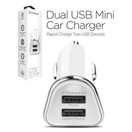 Nyhed hypergear Dual USB Mini Car Charger Hvid eller Sort
