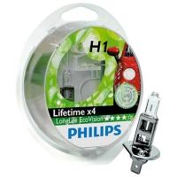 PHILIPS H1 ECOVISION (LONGLIFE) - 2-PAK