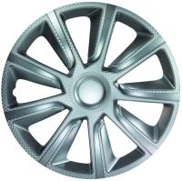 """Veron Carbon Silver 14"""" hjulkapsler 4 stk sæt"""