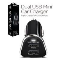 Hypergear Dual USB Mini Car Charger Sort