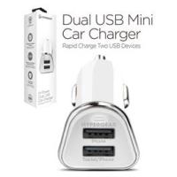 Hypergear Dual USB Mini Car Charger Hvid