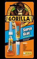 Gorilla Super Glue 2x3g, sekundlim med høj styrke