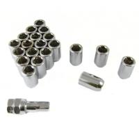 20 stk Sølv Låse Hjulmøtrikker 12x1.25 45mm