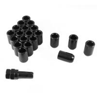 20 stk sorte LåseHjulmøtrikker 12x1.25 45mm