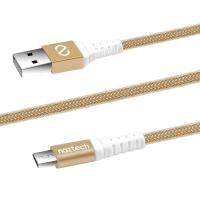 Naztech Micro USB ladekabel Gold