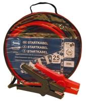 Startkabler, 25 mm., 350 A., 3,5 m., Isolerede kobber tænger