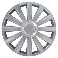 """Hjulkapsler Spyder Pro Silver 14"""" 4 stk sæt"""