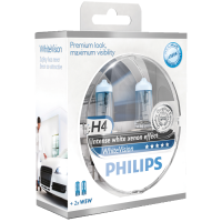 Philips White Vision H4 2 stk pakning