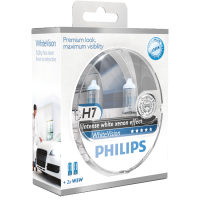 Philips White Vision H7 2 stk pakning