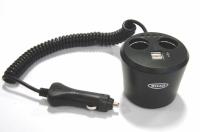 Ring dobbelt strømudtag/dobbelt USB