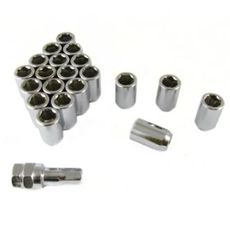 20 stk Sølv Låse Hjulmøtrikker 12x1.50 45mm