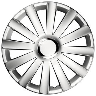 """Hjulkapsler Spyder Pro Silver 16"""" 4 stk sæt"""